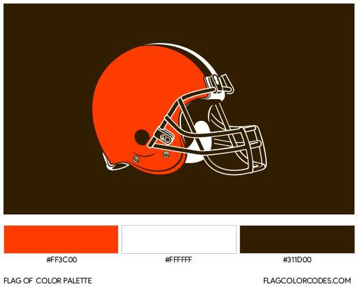 Cleveland Browns Flag Color Palette