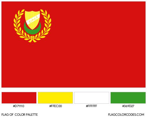 Kedah Flag Color Palette