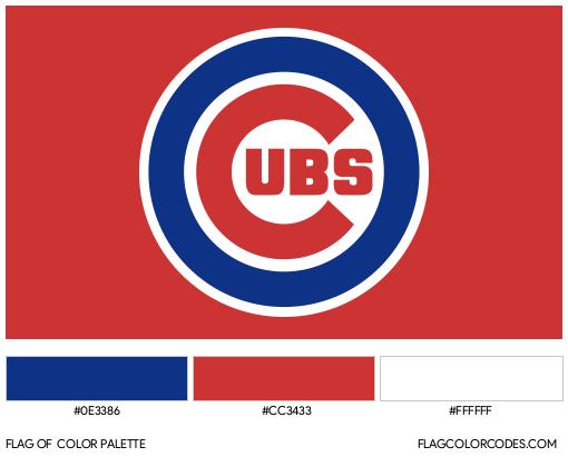 Chicago Cubs Flag Color Palette