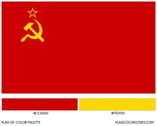 USSR Flag Color Palette