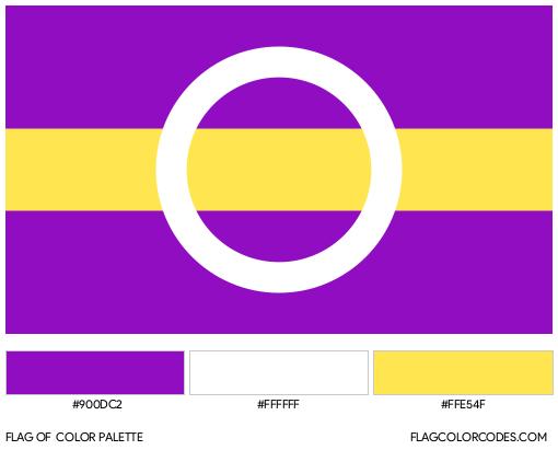 Intergender (Alternate) Flag Color Palette