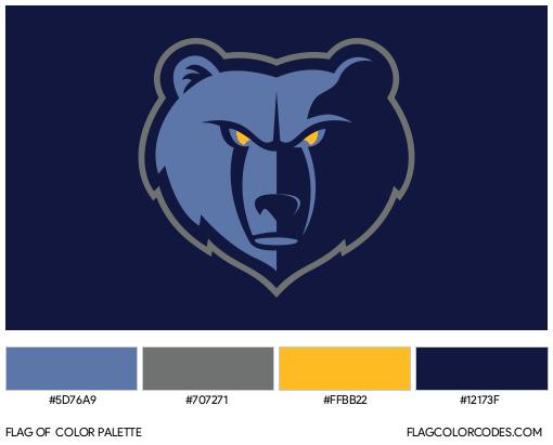 Memphis Grizzlies Flag Color Palette