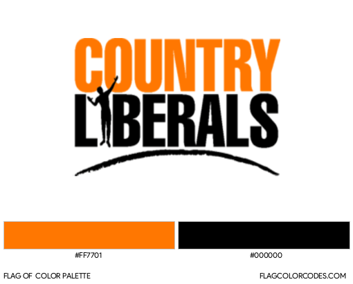 Country Liberal Flag Color Palette