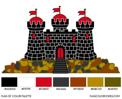 Edinburgh Flag Color Palette