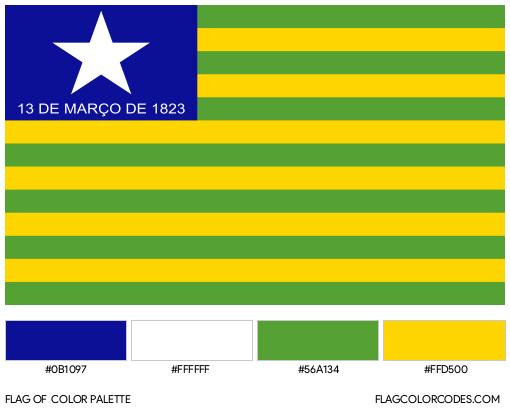 Piauí Flag Color Palette