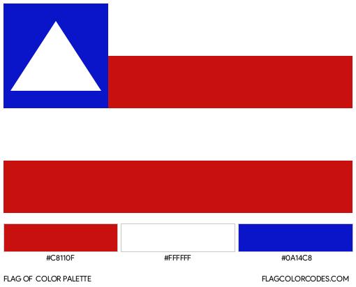 Bahia Flag Color Palette