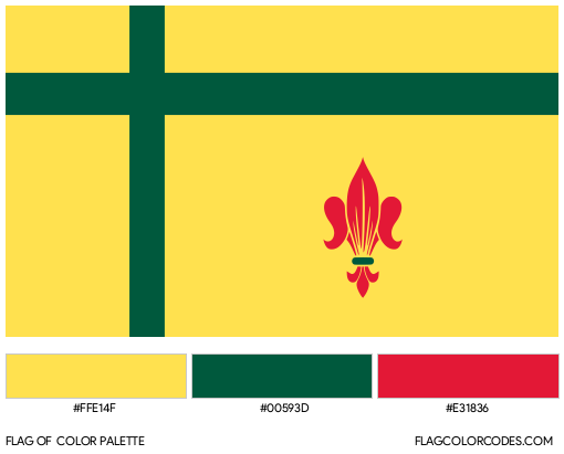 Fransaskois Flag Color Palette