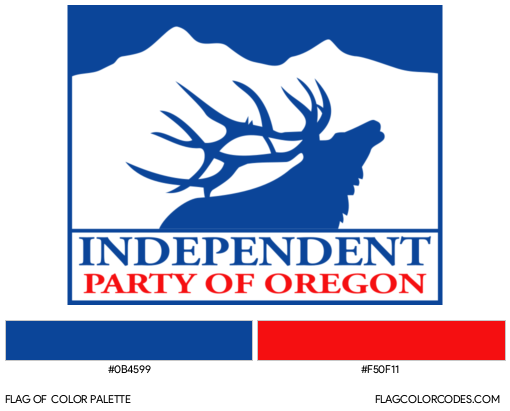 Independent Party of Oregon Flag Color Palette