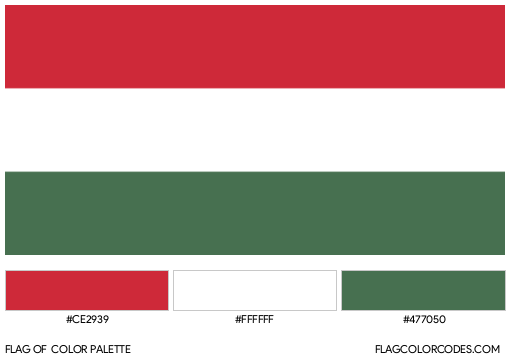 Hungary Flag Color Palette