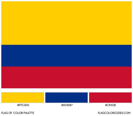 Colombia Flag Color Palette