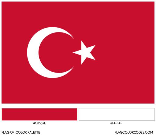 Turkey Flag Color Palette