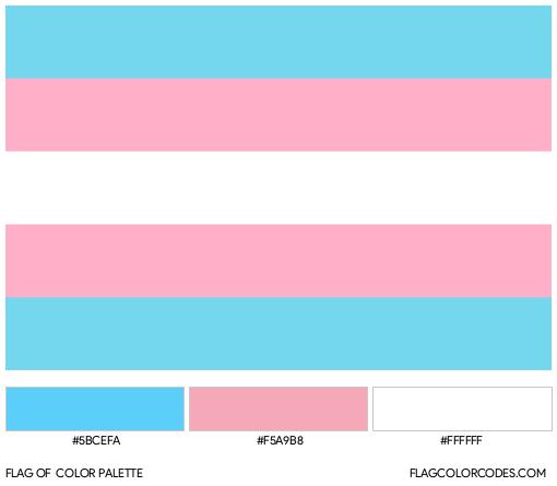 Transgender Flag Color Palette