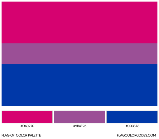 Bisexual Flag Color Palette