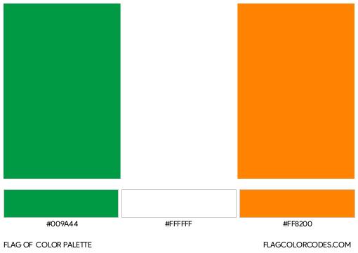Ireland Flag Color Palette