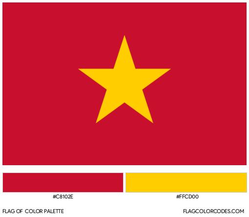 Vietnam Flag Color Palette