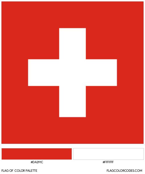 Switzerland Flag Color Palette