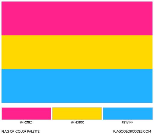 Pansexual Flag Color Palette