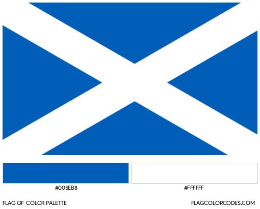 Scotland Flag Color Palette