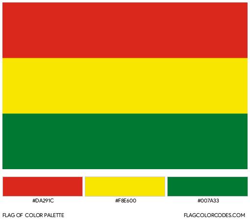 Bolivia Flag Color Palette