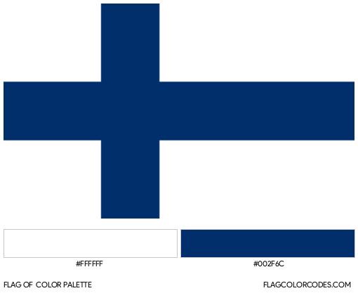 Finland Flag Color Palette