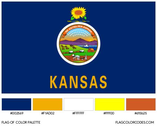 Kansas Flag Color Palette