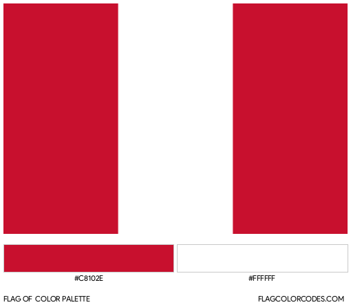 Peru Flag Color Palette