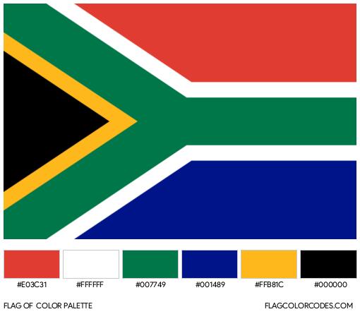 South Africa Flag Color Palette