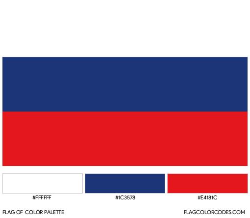 Russia Flag Color Palette