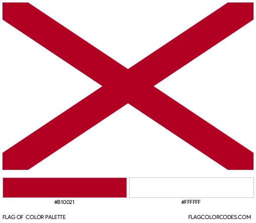 Alabama Flag Color Palette