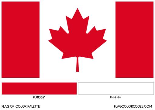 Canada Flag Color Palette
