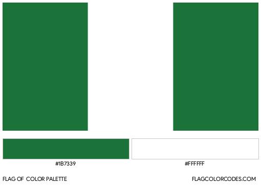 Nigeria Flag Color Palette
