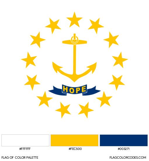 Rhode Island Flag Color Palette