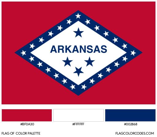 Arkansas Flag Color Palette