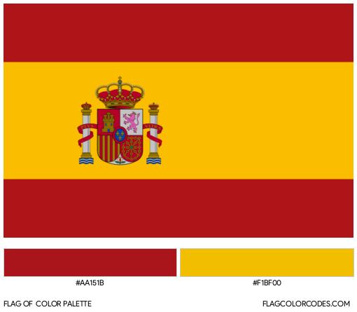Spain Flag Color Palette