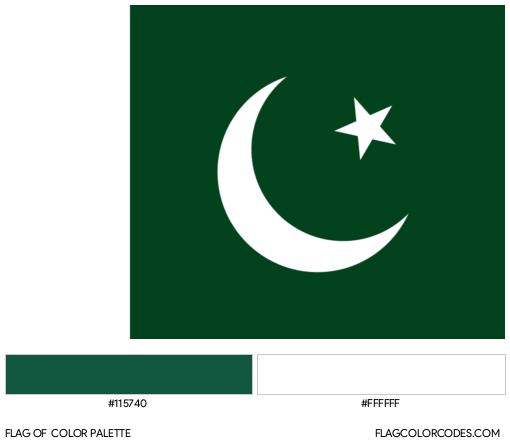 Pakistan Flag Color Palette