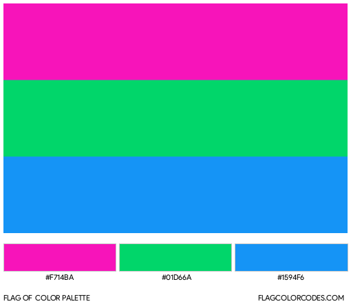 Polysexual Flag Color Palette