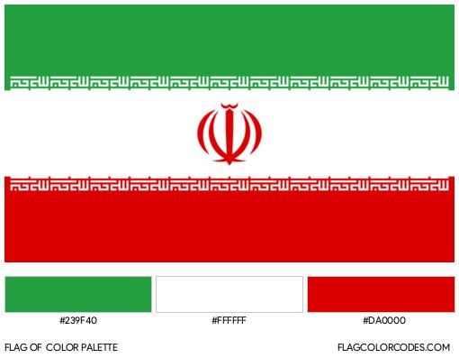 Iran Flag Color Palette