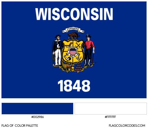 Wisconsin Flag Color Palette