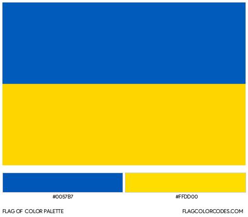 Ukraine Flag Color Palette