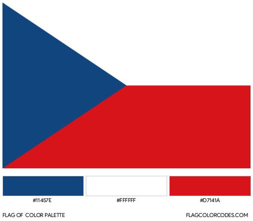 Czech Republic Flag Color Palette