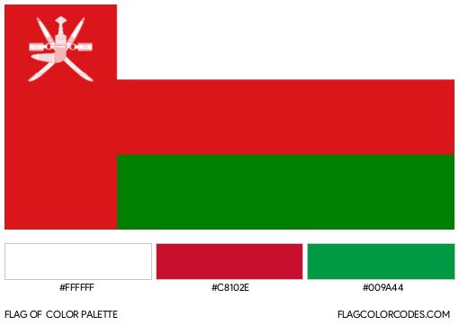 Oman Flag Color Palette