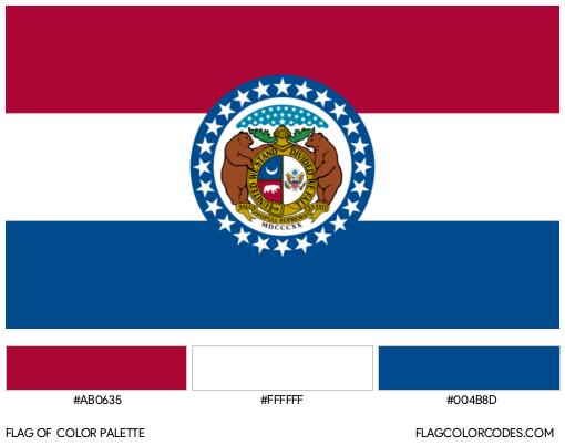 Missouri Flag Color Palette