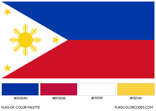 Philippines Flag Color Palette
