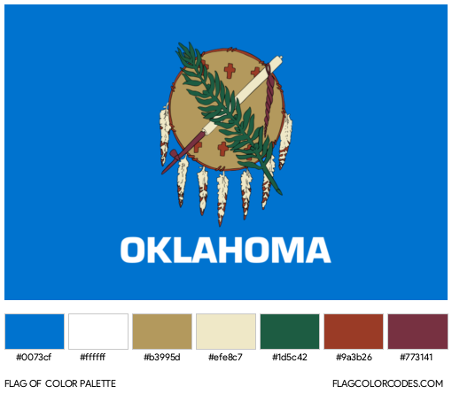 Oklahoma Flag Color Palette