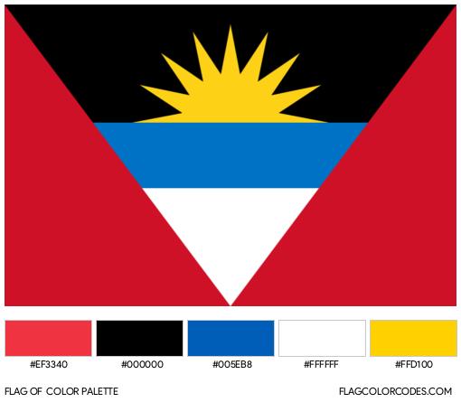 Antigua and Barbuda Flag Color Palette