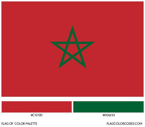 Morocco Flag Color Palette