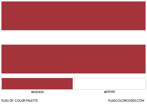 Latvia Flag Color Palette