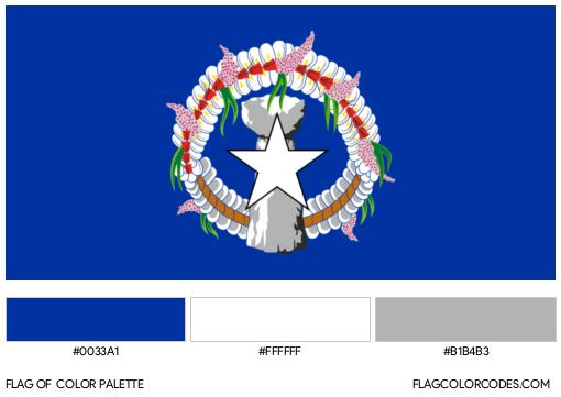 Northern Mariana Islands Flag Color Palette