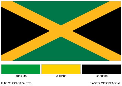 Jamaica Flag Color Palette