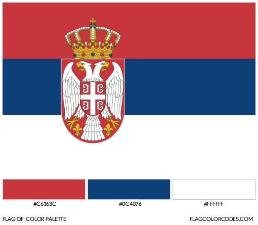 Serbia Flag Color Palette